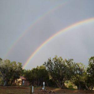 Rainbows over Casa Escondida