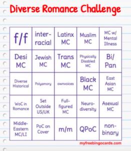 #DiverseRomaneBingo card