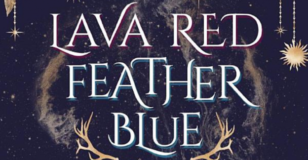 lava red feather blue title