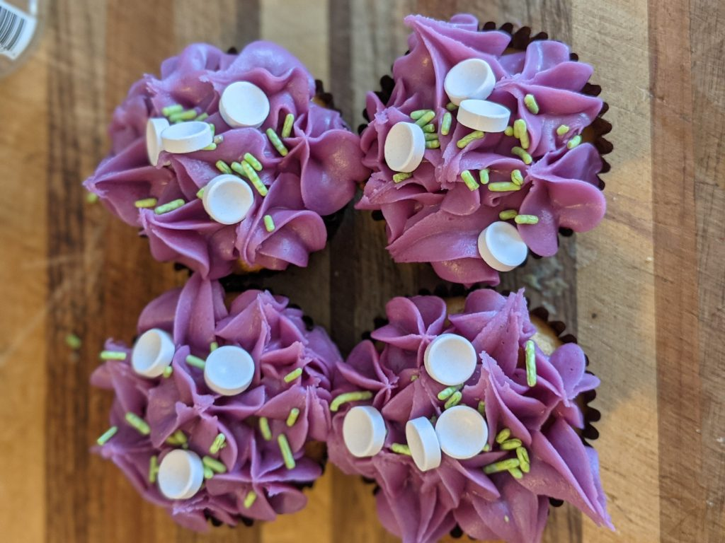 swizzlw sweets parma violet cup cakes