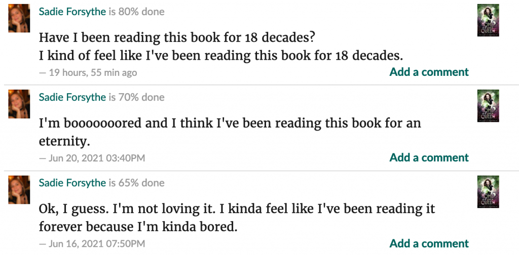 goodreads comments