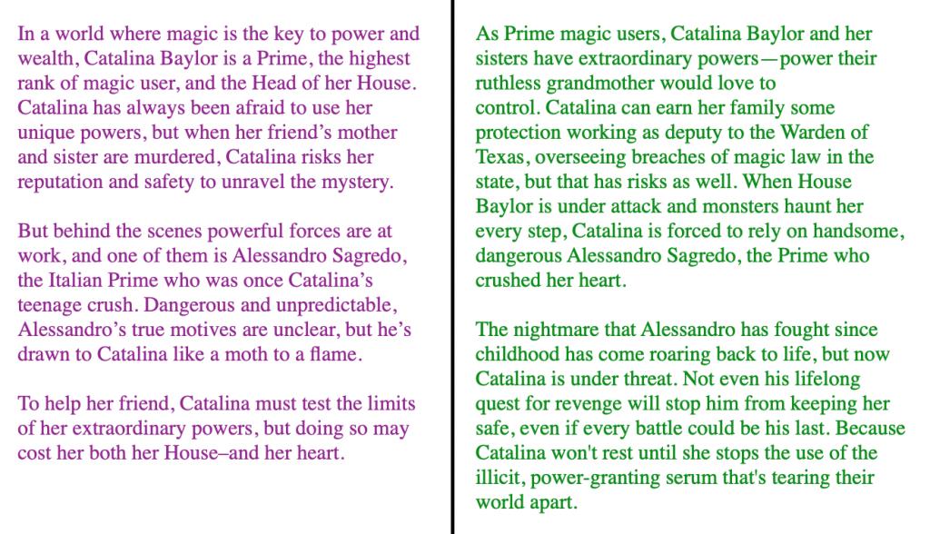 catalina baylor blurbs